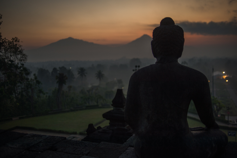 Sunrise at the Borobudur Temple
